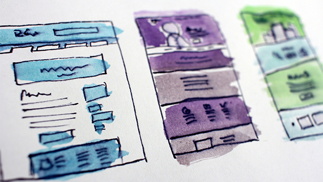 website mockup rough sketches